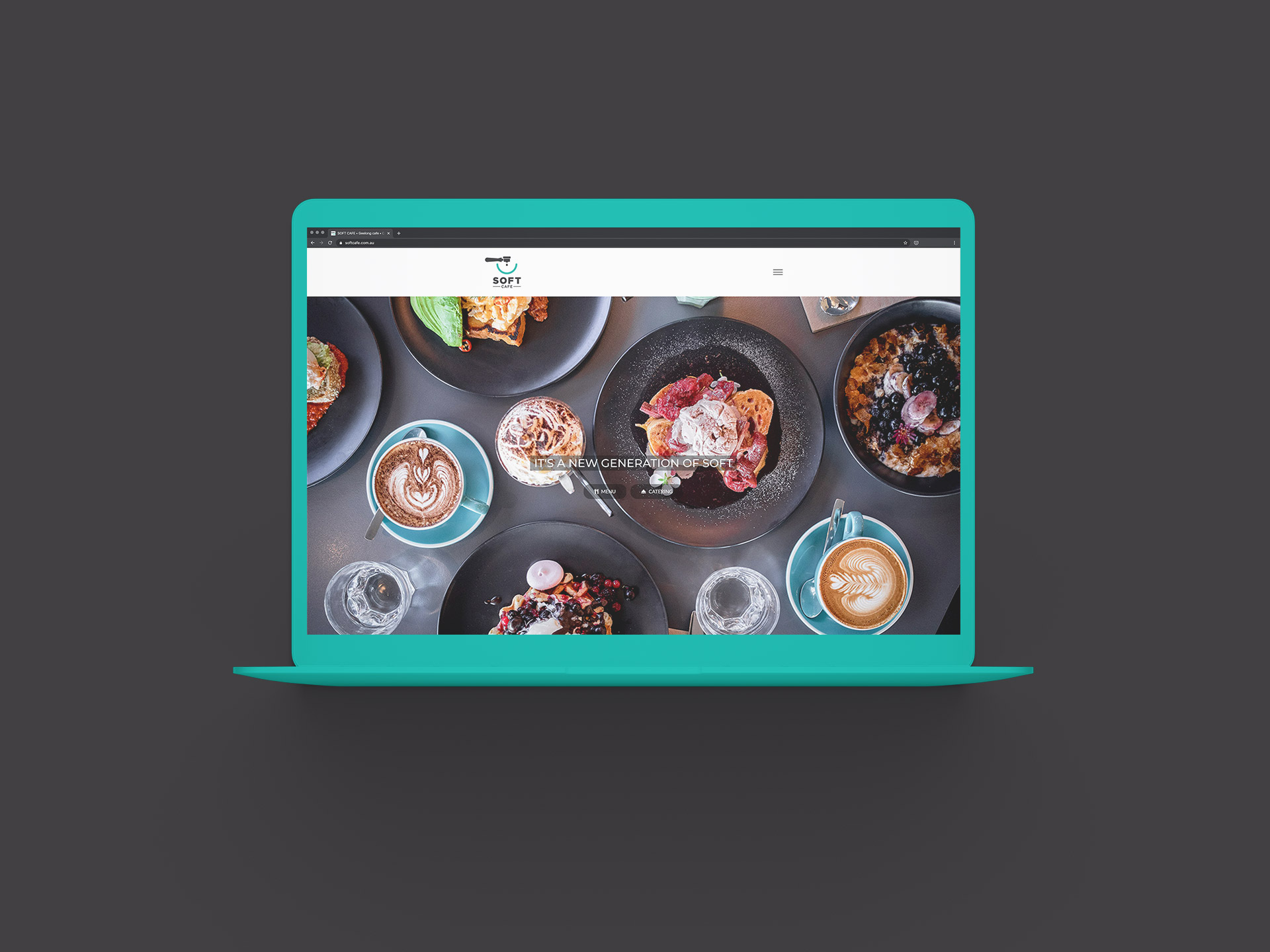 Soft Cafe desktop responsive website