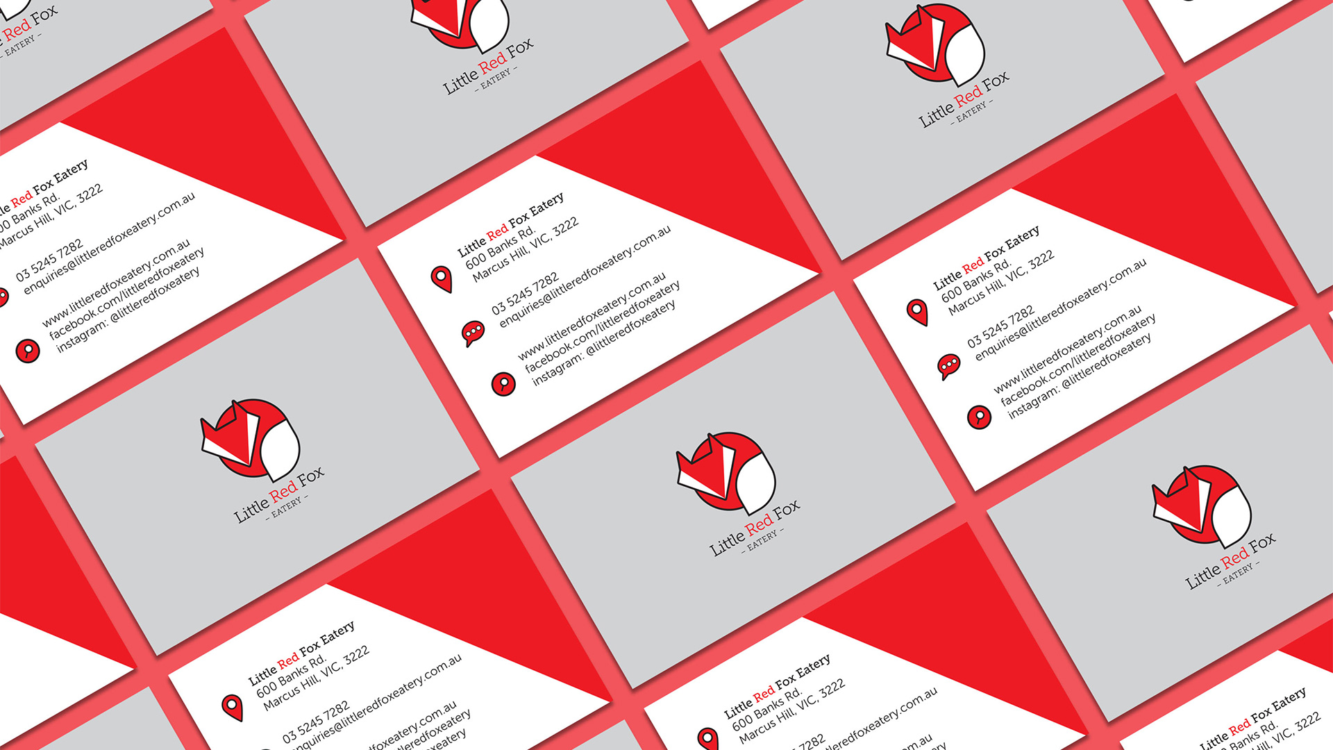 Little Red Fox Eatery business cards