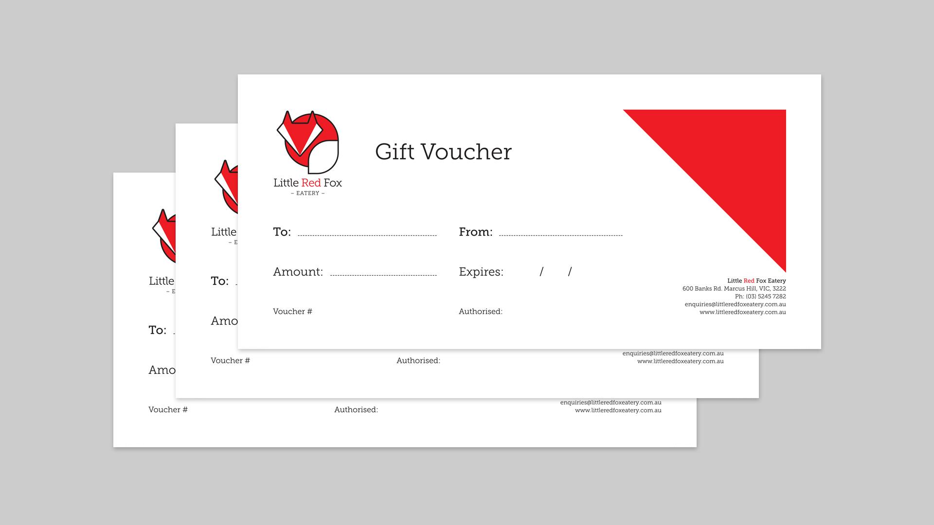 Little Red Fox Eatery gift voucher