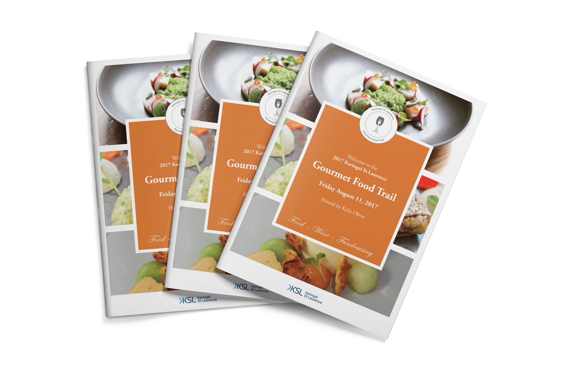 Gourmet Food & Wine Trail 2017 event booklets
