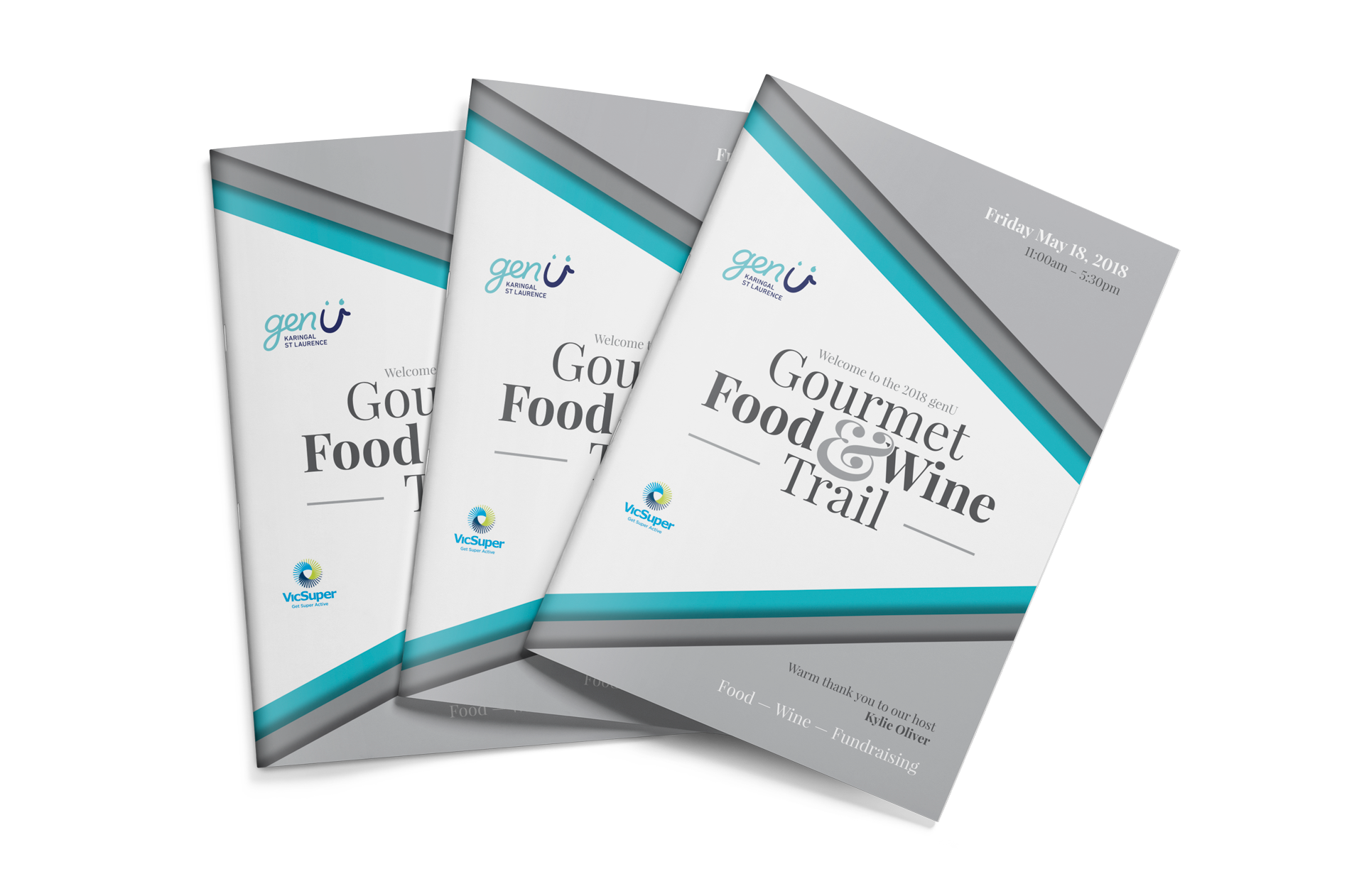 Gourmet Food & Wine Trail 2018 event booklets