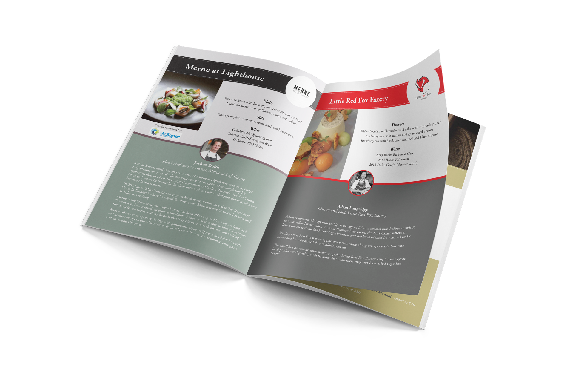 Gourmet Food & Wine Trail fundraiser event booklet 2017
