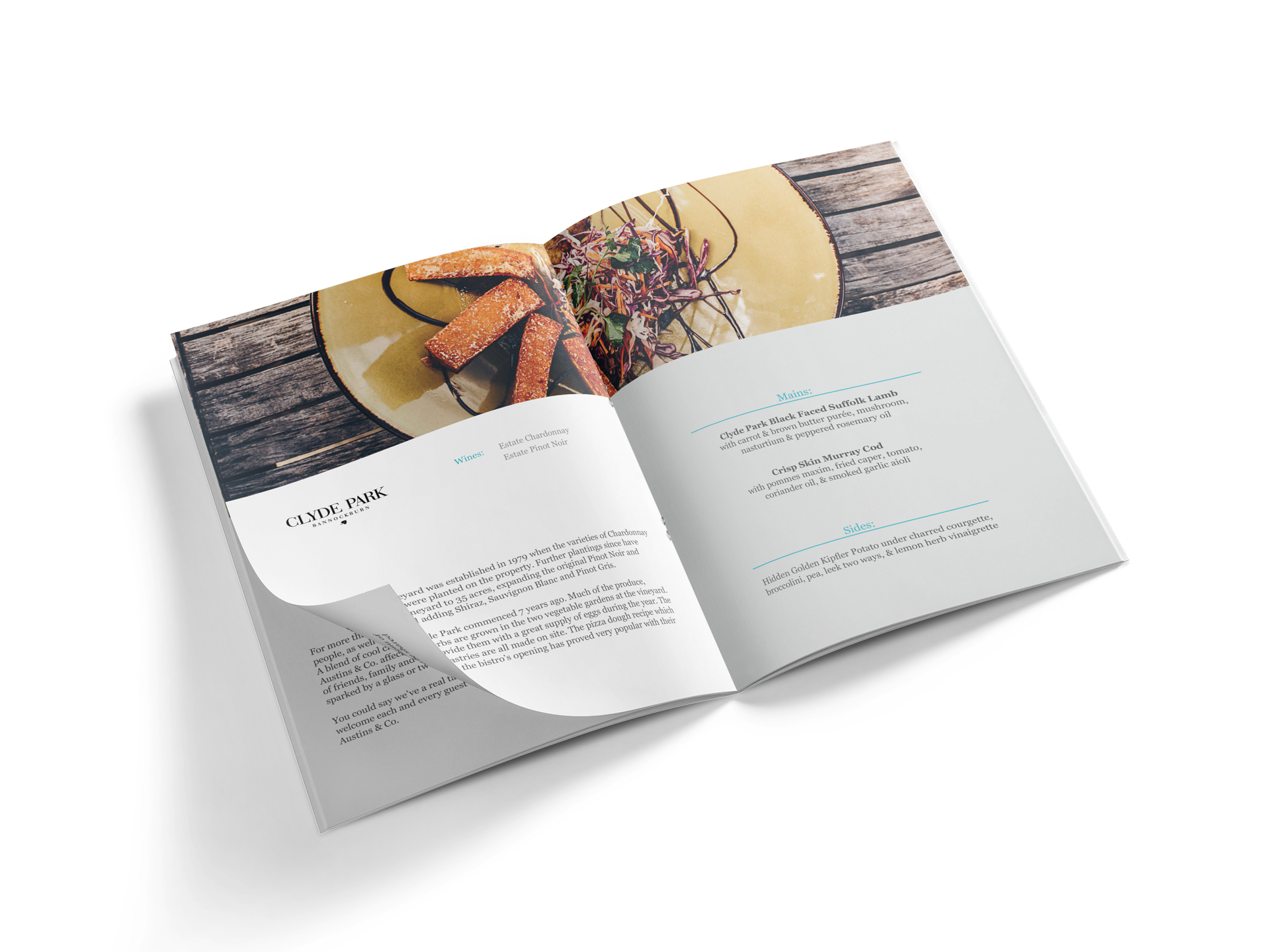 Gourmet Food & Wine Trail fundraiser event booklet 2018