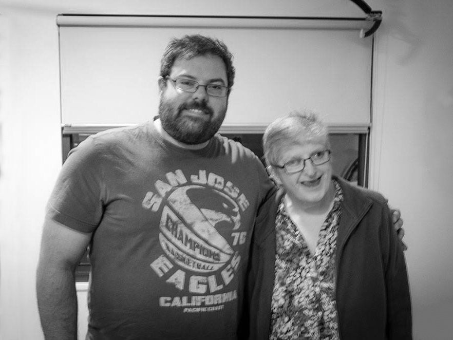 Todd with his aunty Lesley Murphy, life member of Karingal